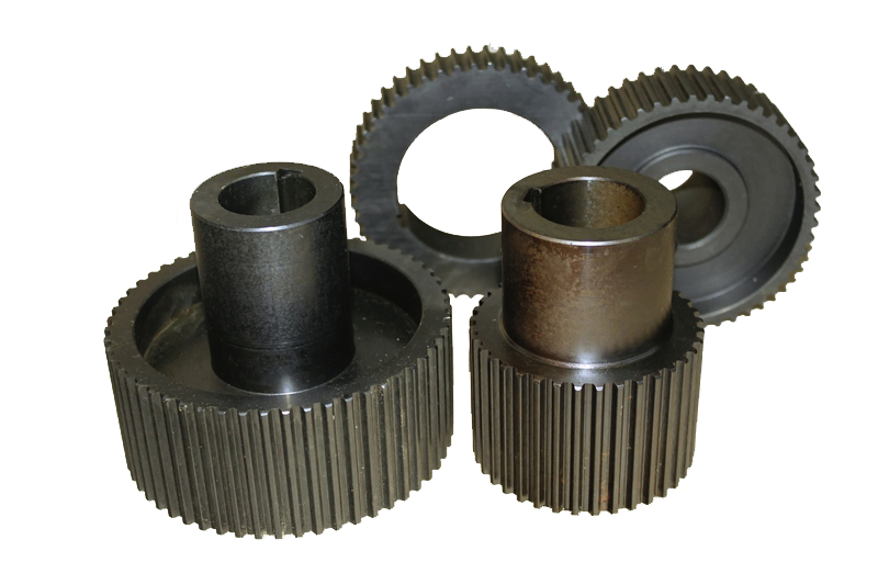 Tooth-belt pulleys